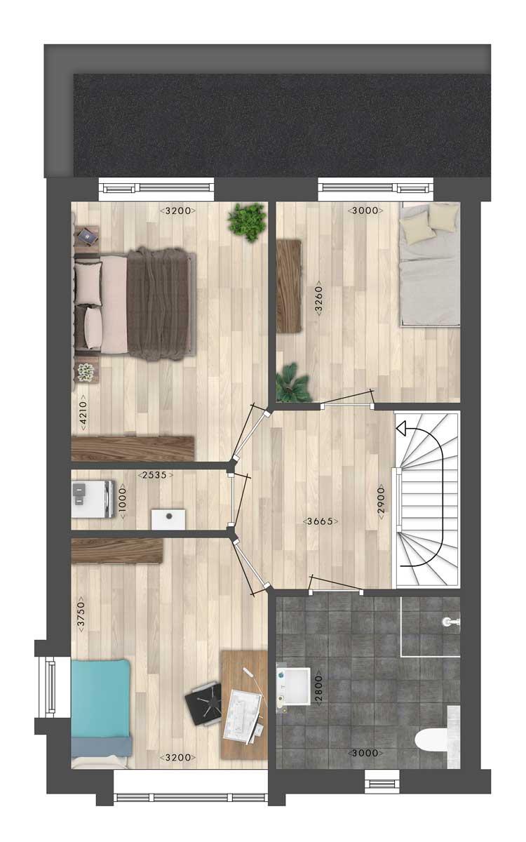 Woning-1-en-4-verdieping-uitsnedes